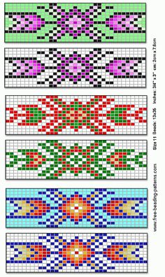 Native American Beading Patterns | barrette-for-native-american-beadwork-group-of-6b