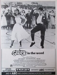 Grease movie advert from Photoplay magazine, October 1978.