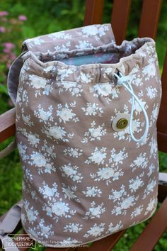 New Bag - workshops / New bags tutorials - evening meetings Backpack Tutorial, Diy Backpack, Backpack Pattern, Diy Bags No Sew, Tods Bag, Diy Handbag, Quilted Handbags, Linen Bag, Bag Patterns To Sew