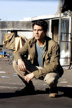 Dylan O'Brien as Thomas on Maze Runner: The Death Cure Production Stills