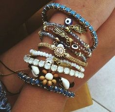 Collection of bracelets (found on Tumblr).
