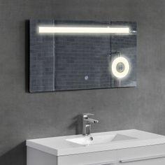[neu.haus] Specchio muro/bagno / specchio per bagno illuminazione LED 84,30 € Decor, Light, Furniture, Bathroom Mirror, Hotel, Home Decor, Mirror, Bathroom Lighting, Bathroom