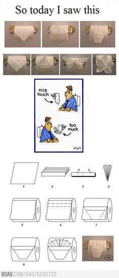 Toilet Paper Origami.