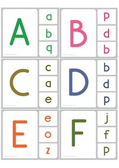 Printable Manuscript UPPERCASE Lowercase Match Clip Card - Discover and identify manuscript uppercase and lowercase Letters with game. Alphabet Activities Kindergarten, Kids Math Worksheets, Preschool Learning Activities, Letter Activities, Alphabet Worksheets, Kids Learning, Font Alphabet, Worksheet For Nursery Class, Letter Recognition