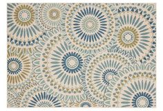 Sultan Outdoor Rug, Blue/Green