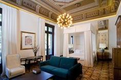 Inspired by architectural legacy of Barcelona's mercantile past, Interior design studio Lázaro Rosa-Violán has designed the new Cotton House Hotel in the district of Eixample. Architectural Digest, Barcelona Hotels, Barcelona Spain, Cotton House, Interior Architecture, Interior Design, Master Bedroom Interior, Hotel Restaurant, Luxury Accommodation