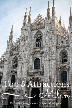 Top 5 Attractions in Milan. We had a wonderful sightseeing adventure just walking around the city since our time was limited.