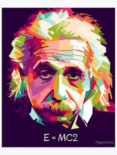 Portrait of Albert Einstein as digital art created in inkscpe with WPAP (Wedha's Pop Art Potrait) style Portraits Pop Art, Tableau Pop Art, L'art Du Portrait, Pop Art Posters, E Mc2, Vector Art, Art Drawings, Abstract Art, Illustration Art