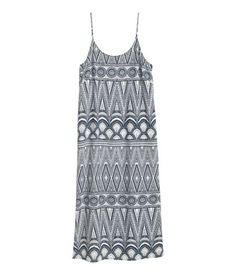 Sleeveless Dress | White / Patterned | Ladies | H & M DE