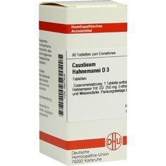CAUSTICUM HAHNEMANNI D 3 Tabletten:   Packungsinhalt: 80 St Tabletten PZN: 02627826 Hersteller: DHU-Arzneimittel GmbH & Co. KG Preis:…