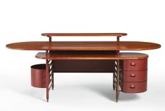 Frank Lloyd Wright, Desk for S.C. Johnson and Son Administration Building, c. 1938-1939