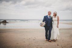 Lusty Glaze Beach Wedding,  Newquay Cornwall. Captured by www.marieansonphotography.com