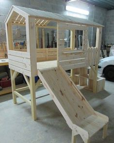 Creative diy bed frames ideas you will love 25 Kid Beds, Bunk Beds, Kids Bed With Slide, Diy Bett, Diy Bed Frame, Bed Frames, Kids Room Design, House Beds, Woodworking Projects Plans