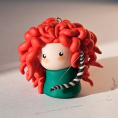 FIMO Merida by ~jenni1er on deviantART...- it's like a vintage fisher price little person having a bad hair day.. . :D