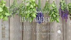 Premiers pas en cosmétique bio : Les 10 ingrédients à posséder #Essentiel