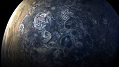 NASA has shared brand new photos of Jupiter taken by the Juno spacecraft, showing the gas giant's blue-tinged skies. The Juno spacecraft takes batches of photos about every 53 days as it orbits Jupiter. Nasa Photos, Nasa Images, Sistema Solar, Cosmos, Jupiter Photos, Juno Jupiter, Nasa Juno, Juno Spacecraft, Amor