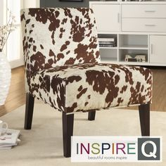 Inspire Q Decor Cowhide Fabric Chair | Overstock.com Shopping - Great Deals on INSPIRE Q Chairs