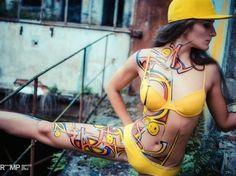 O portal tem mais de 35 mil usuários e imagens de pinturas de Vince Prawns e outros artistas que se dedicam à pintura corporal no estilo da arte de rua