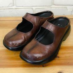 e3ea5a966f6 DANSKO Women s Shoes ~ Brown Leather Mary Jane Mule Clogs ~ Euro 38