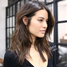 """742 Likes, 6 Comments - Cherin Choi (@mizzchoi) on Instagram: """"Full highlights for natural brunette hair with dimension and texture #hair #haircolor #color…"""""""