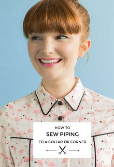 Tilly and the Buttons: How to Sew Piping to a Collar or Corner
