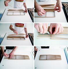 Mithilfe eines Papiermodells wurde die individuelle Biegung der einzelnen Stahlbänder experimentell ermittelt.