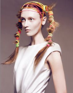 Attack of the rubber bands and hair ties! | Vestal Mag by Kevin Sinclair Hair by Deycke