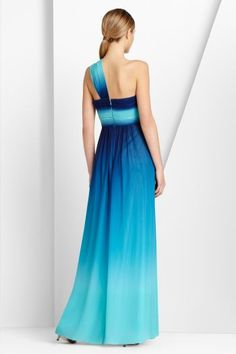 Cheap BCBG One Shoulder Timoa Blue Ombre Evening Gown [BCBG Timoa Ombre Evening Gown Blue] - $168.00 :