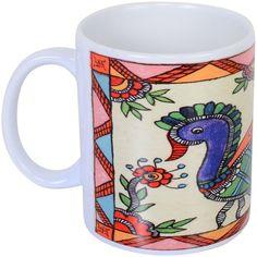 Coffee Mug with Madhubani Painting Shipping Free in 2 Kms