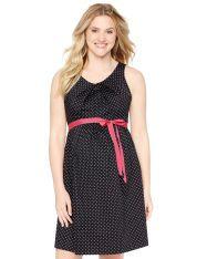 Destination Maternity - Sleeveless Belted Maternity Dress