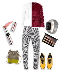 """""""city walk woman"""" by danilomk on Polyvore featuring G-Star Raw, Helmut Lang, AINEA, Dr. Martens, Lacoste, Ciaté and MAC Cosmetics"""