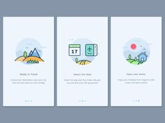 Onboarding inspiration for mobile apps — Muzli -Design Inspiration — Medium  ILLUSTRATION: INVITING, ACCESSIBLE