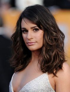 Lea Michele Medium Lenght Tousled Hairstyle at the SAG Awards 2011