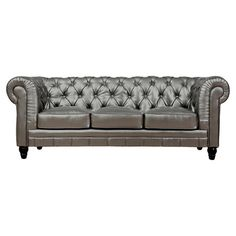A regal addition to your living room or parlor, this handsome sofa features diamond tufting and rolled arms.   Product: Sofa...