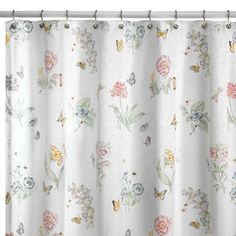 Lenox® Butterfly Meadow® 72-Inch x 72-Inch Fabric Shower Curtain