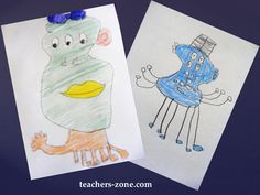 DRAW A MONSTER Speaking activity for young learners to practise parts of the body, numbers and colours.