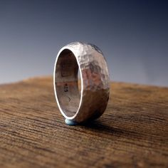 silversmiths ring sterling silver hammer forged от markaplan