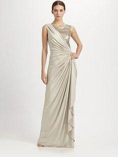 Tadashi Shoji  Sequin & Jersey Gown