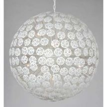 Modern white floral globe ceiling pendant, dimmable if fitted with suitable dimmer switch. Ideal lighting over table or long drop stairwells Ceiling Pendant, Pendant Lighting, Ceiling Lights, Globe Pendant Light, Flat Ideas, Modern Ceiling, All Modern, Contemporary Style