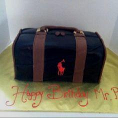 Polo duffle bag cake