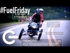 Trimoto Leaning Motorcycle - The Gadget Show Trike Motorcycle, Bike, Reverse Trike, Tricycle, Driving Test, Gadgets, Cars, Youtube, Design