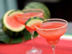 Watermelon Margarita with Espelette Salt recipe from Geoffrey Zakarian via Food Network