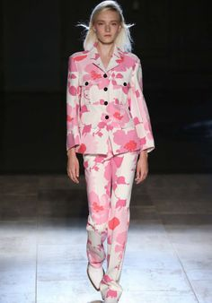 Victoria Beckham S/S 15 collection - bold Sixties inspired floral prints