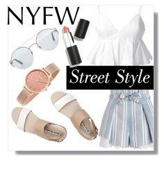 """NYFW: Street Style"" by jeneeeh5 ❤ liked on Polyvore featuring Alexander Wang, Acne Studios, Zimmermann, Bottega Veneta, Sigma and Skagen"