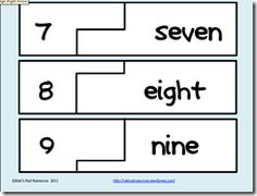 FREE puzzle to help your students learn the names of their numbers from 1-20