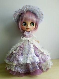 Blythe Dress Vintage Inspired Victorian Style Lilac by maamoon
