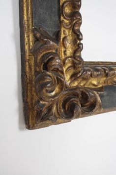 17th Century Spanish Baroque Carved Wood Gold Leaf Frame 9