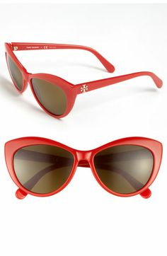 d26ca5ad40d Tory Burch 56mm Cat s Eye Sunglasses available at  Nordstrom Red Cat Eye  Glasses