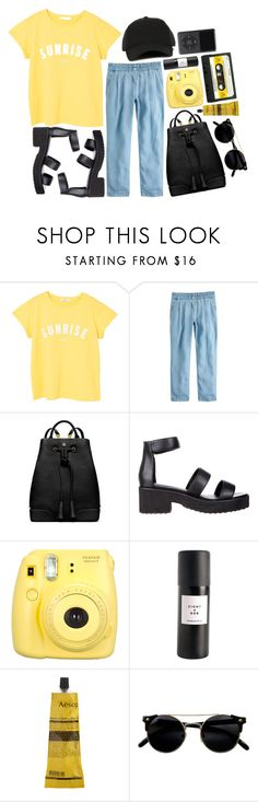 """""""Sunrise"""" by rheeee ❤ liked on Polyvore featuring MANGO, J.Crew, Tory Burch, Soles, Fujifilm, Eight & Bob, Aesop and Y-3"""