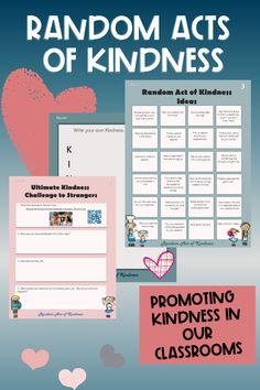 Ideas for random acts of kindness in your classroom. Spread love and kindness across your classroom and whole school community. Ideas random acts of kindness and the random acts of kindness challenge will fill your classroom and school with joy and positive deeds.. #randomactsofkindness #randomactsofkindnessactivities #sarahannescreativeclassroom #kindnesschallenge #ideasrandomactsofkindness #kindness #gratitude #kindnessactivites @tpt @sarahannescreativeclassroom